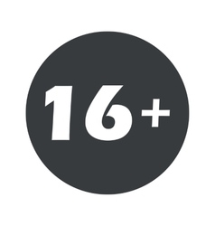 Monochrome round 16 plus icon vector