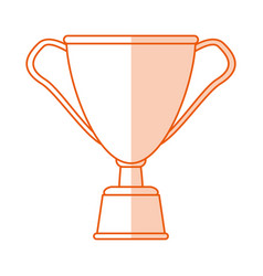 Monocromatic cup trophy design vector