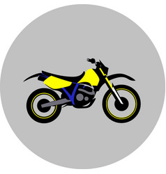motorcycle offroad sport vector image