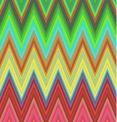 Multicolored zig zag stripe pattern background vector