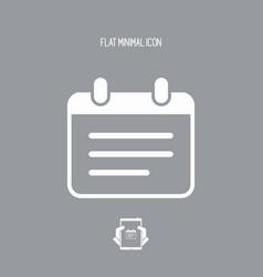 Notepad - flat minimal icon vector