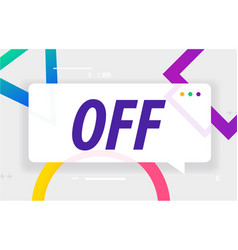 Off in design banner template for web vector