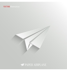 Paper Airplane icon - web background vector image