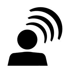 Person pictogram talking icon vector