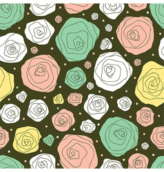 retro flower pattern vector image