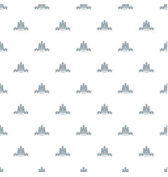 Royal castle pattern seamless vector