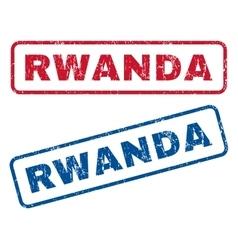 Rwanda Rubber Stamps vector