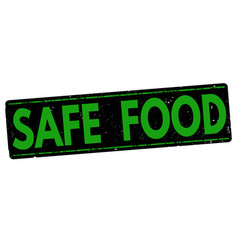 safe food stamp vector image