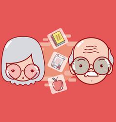 School and teachers cartoon vector