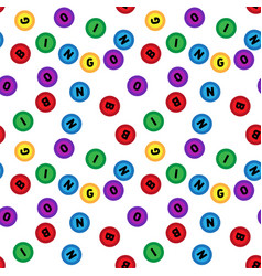 seamless lotto pattern isolated on white vector image