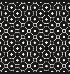 seamless pattern with circles and rounded squares vector image