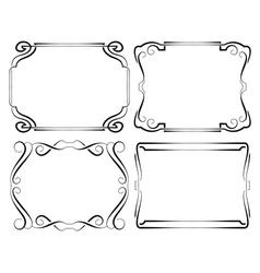 Set of framework Black on white vector image vector image