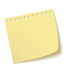 sheet of notebook vector image vector image
