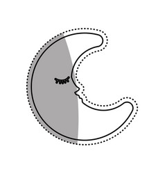 Sleeping moon cartoon vector