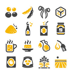 soybean icon vector image