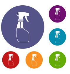 spray icons set vector image