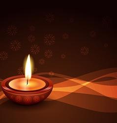 Stylish diwali diya background vector