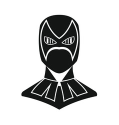 superhero in flat silhouette style vector image