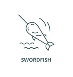 Swordfish line icon linear concept vector