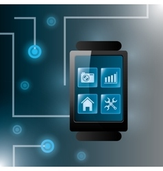 Technology digital design vector