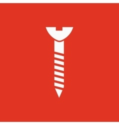 The Screw icon Bolt symbol Flat vector