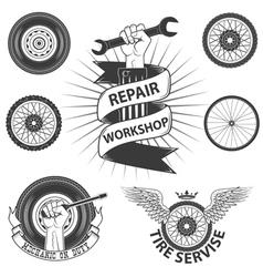 Tire service vector