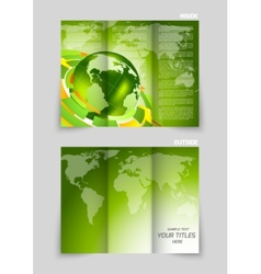Tri-fold brochure design vector