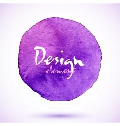 Violet watercolor circle design element vector image