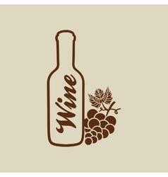 Wine grapes design vector