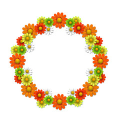 Wreath from bright flowers vector image