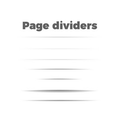 shadow page dividers set vector image