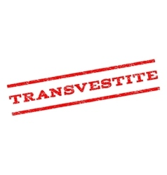 Transvestite watermark stamp vector