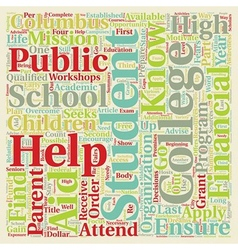 I KNOW I CAN helps Students in Columbus Schools vector image vector image