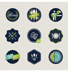Restaurant menu labels set of design elements vector