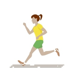 Woman Running Isolated vector image