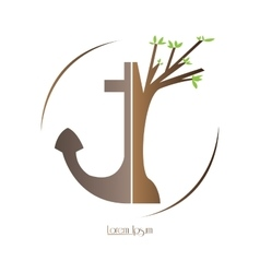 Isolated nature logo vector image