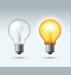 light bulb switched on and off vector image