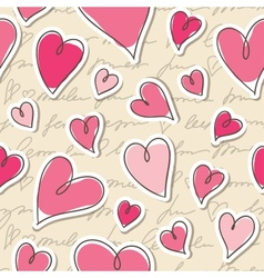 pattern of hearts vector image vector image