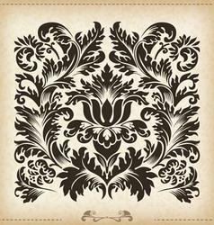 Vintage baroque border frame card cover vector image
