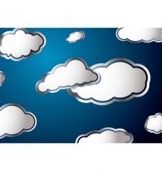 weather cloud vector image vector image