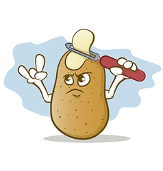 Potato Skin Head vector image