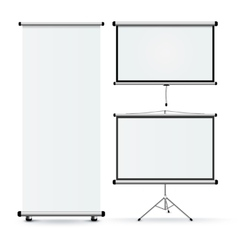 Realistic Roll Stands Set vector image