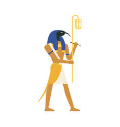 thoth god of wisdom egyptian ancient culture vector image