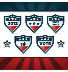 voting patriotic shields vector image vector image