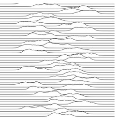 A little waves moving through line space vector