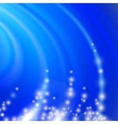 Abstract Blue Blurred Wave Background vector image