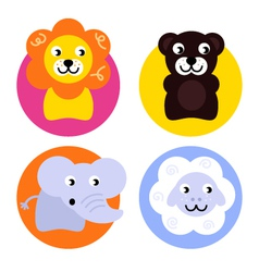 Animal buttons set vector