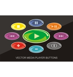 Audio Video Player buttons vector