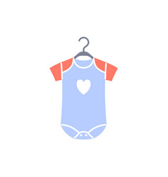 Baby bodysuit flat icon isolated on white vector
