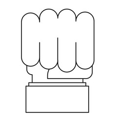 big fist icon outline style vector image